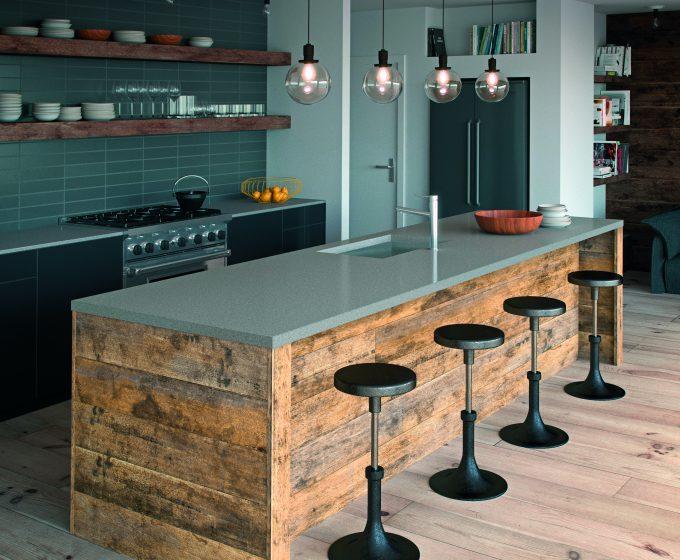 Sleek Concrete Caesarstone Kitchen